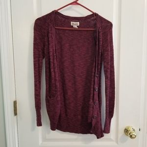 5FOR5 Maroon cardigan WITH POCKETS!